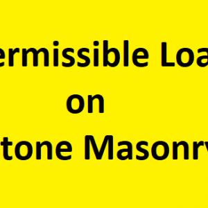 Permissible Load on stone Masonry
