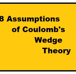 8 Assumptions of Coulomb's Wedge Theory